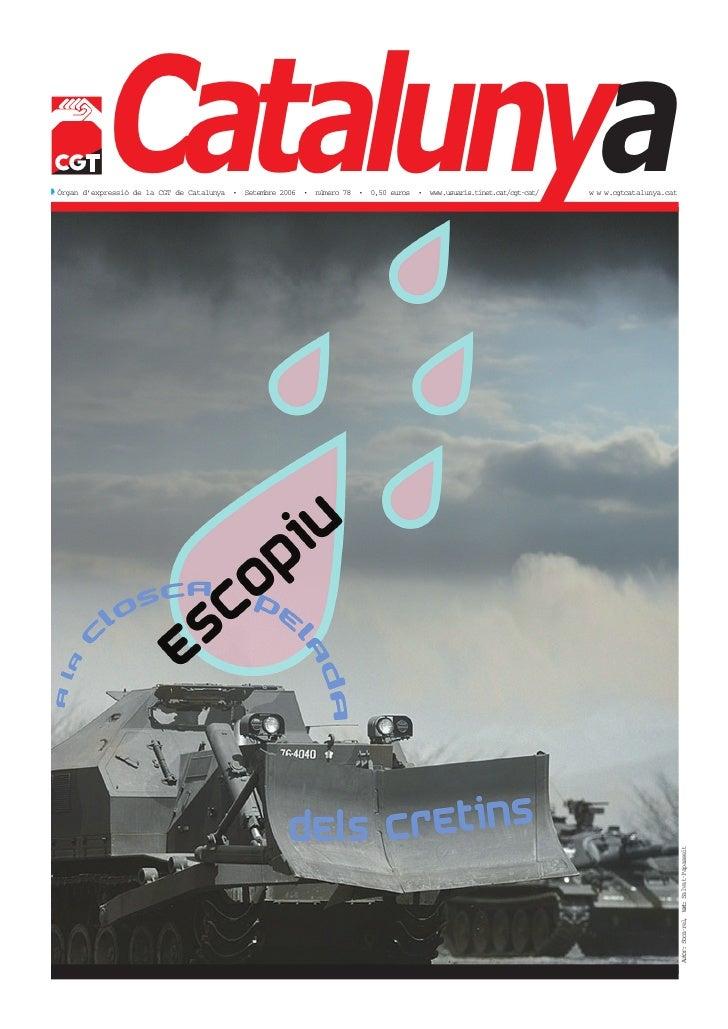 Catalunya 78 Setembre 2006 - sindicat cgt