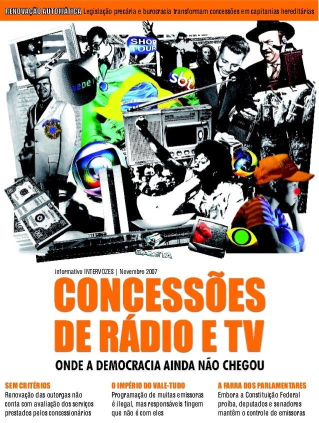 Concessões de Rádio e TV - Intervozes