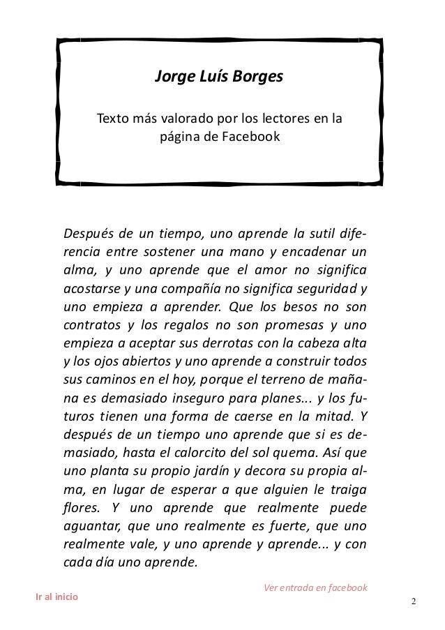 Jorge Luis Borges uno aprende