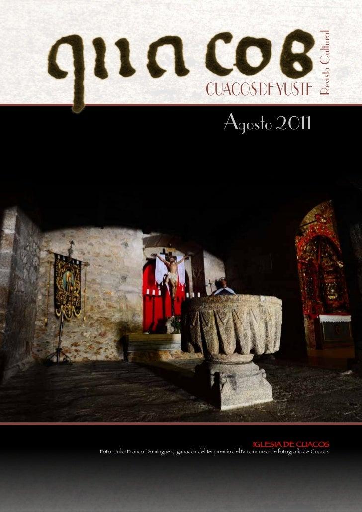 Revista Cultural                                          CUACOS DE YUSTE                                                 ...