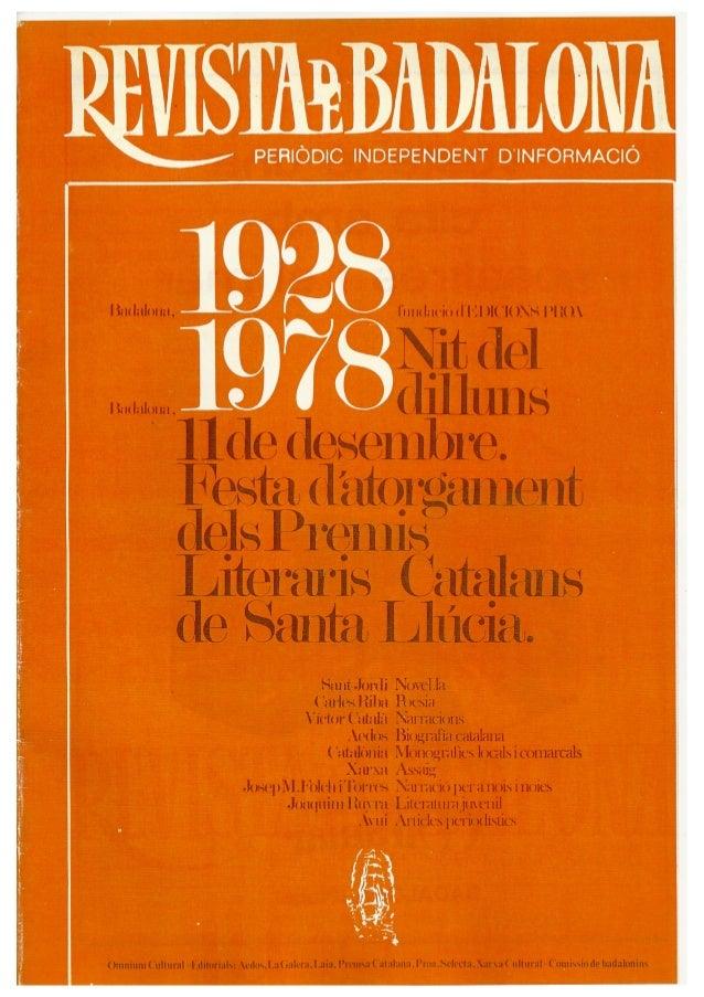 Revista de Badalona - Especial Santa Llúcia 1978