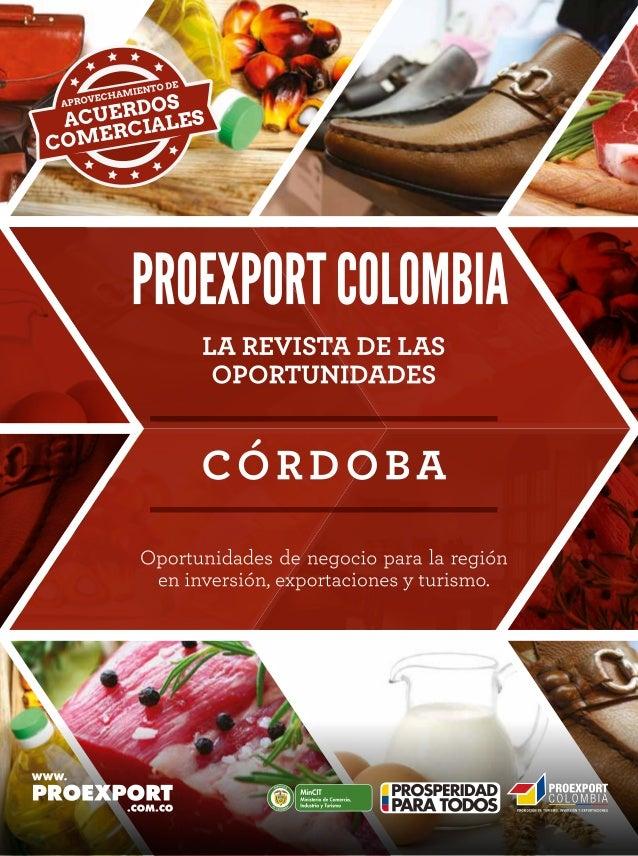 Revista de oportunidades proexport córdoba