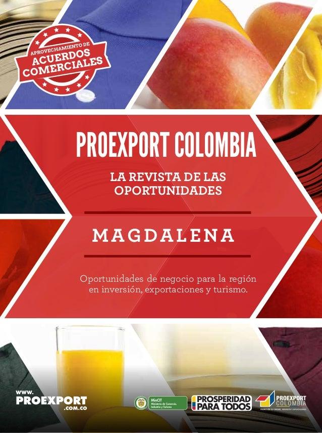Revista de oportunidades proexport Magdalena