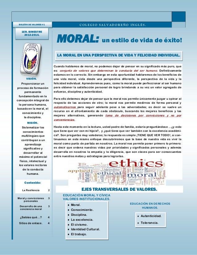 Cuando hablamos de moral, no podemos dejar de pensar en su significado más puro, que es: conjunto de valores que determina...