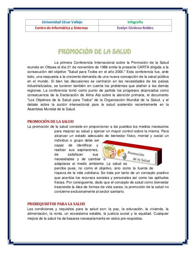 Universidad César Vallejo  Infografía  Centro de Informática y Sistemas  Evelyn Córdova Robles  La primera Conferencia Int...