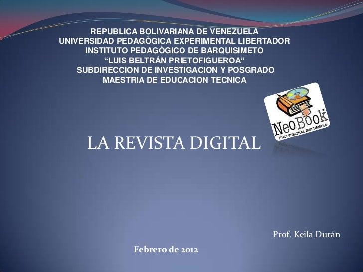 REPUBLICA BOLIVARIANA DE VENEZUELAUNIVERSIDAD PEDAGÒGICA EXPERIMENTAL LIBERTADOR      INSTITUTO PEDAGÒGICO DE BARQUISIMETO...
