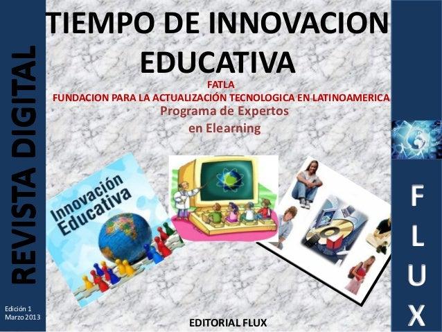 Revista digital tiempo de innovación educativa