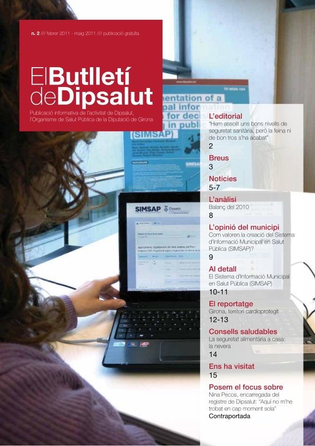 El butlletí de Dipsalut nº2, Feb 2011-Mai 2011
