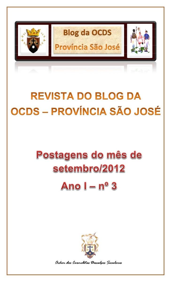 Revista do BLOG DA OCDS - PROVÍNCIA SÃO JOSÉ - - setembro -2012