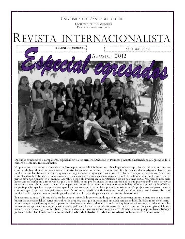 U NIVERSIDAD         DE   S ANTIAGO      DE CHILE                                                  F ACULTAD DE HUMA NIDAD...