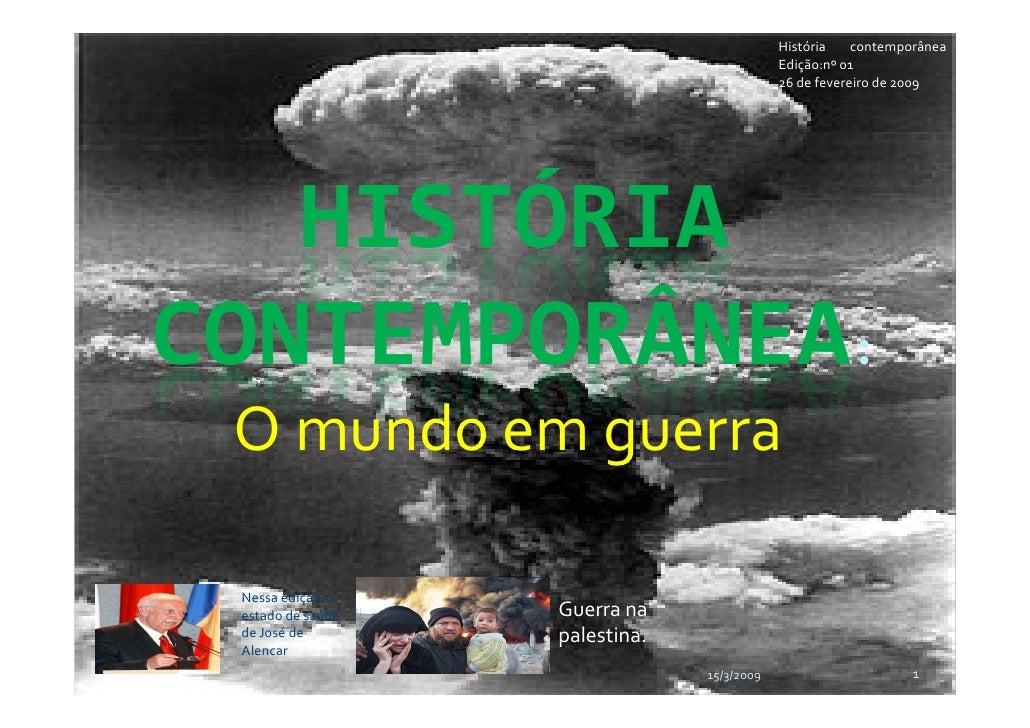 História    contemporânea                                             Edição:nº 01                                        ...