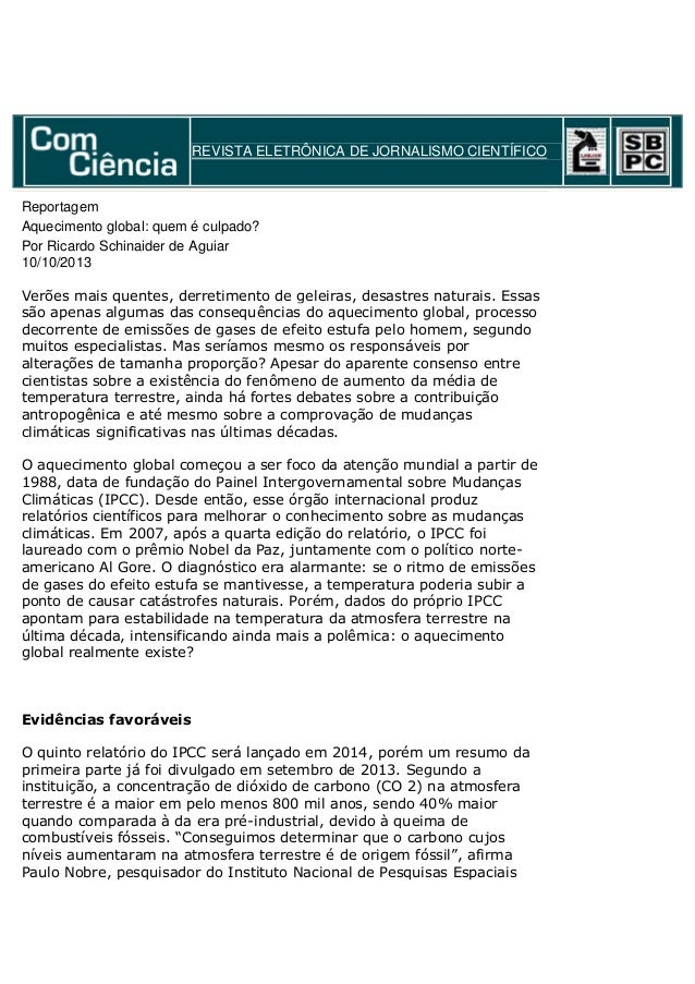 Revista eletrônica de jornalismo científico