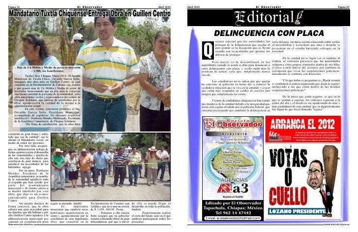 Página 22                                                  El Obser vador                                                 ...