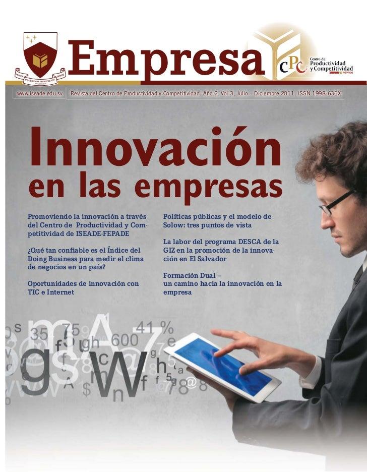 www.iseade.edu.sv                    Empresa                    Revista del Centro de Productividad y Competitividad. Año ...