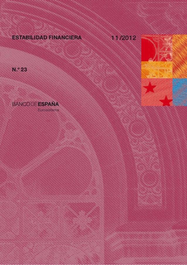 ESTABILIDAD FINANCIERA   1 1 /2012N.º 23