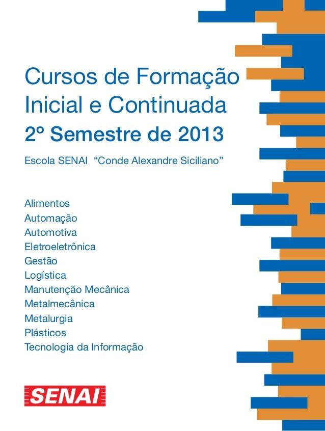 Revista de Cursos - SENAI 2º sem 2013