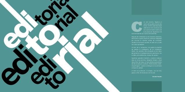 Revista 25 a os de dise o gr fico usac for Diseno grafico editorial