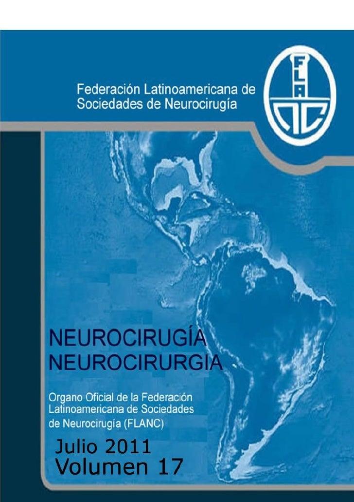 Neurocirugía; Julio 2011, Volume 17