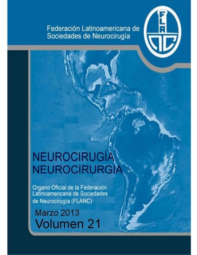 Neurocirugía Marzo 2013 (Vol 21)
