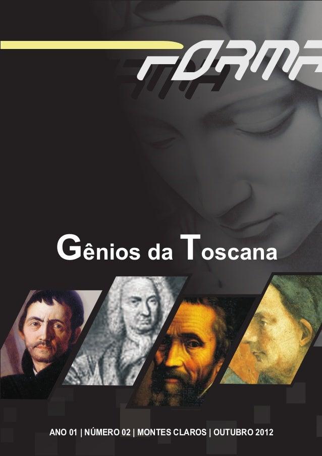 Gênios da ToscanaANO 01   NÚMERO 02   MONTES CLAROS   OUTUBRO 2012