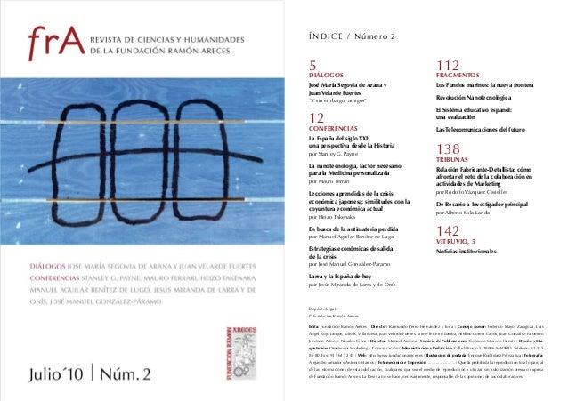 Revista Fundación Ramón Areces. Número 2: Julio 2010