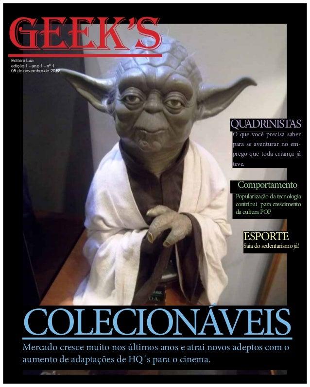 GEEK'sEditora Luaedição 1 - ano 1 - nº 105 de novembro de 2012                                                       QUADR...