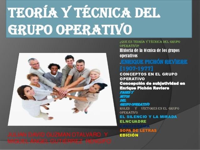 grupo operativos: