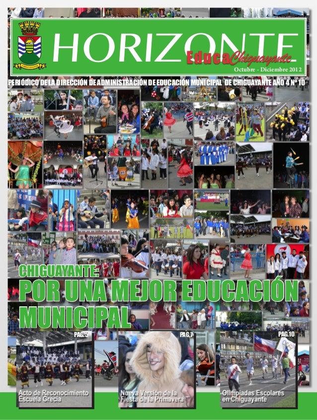 HORIZONTE                                                Octubre - Diciembre 2012PERIÓDICO DE LA DIRECCIÓN DE ADMINISTRACI...