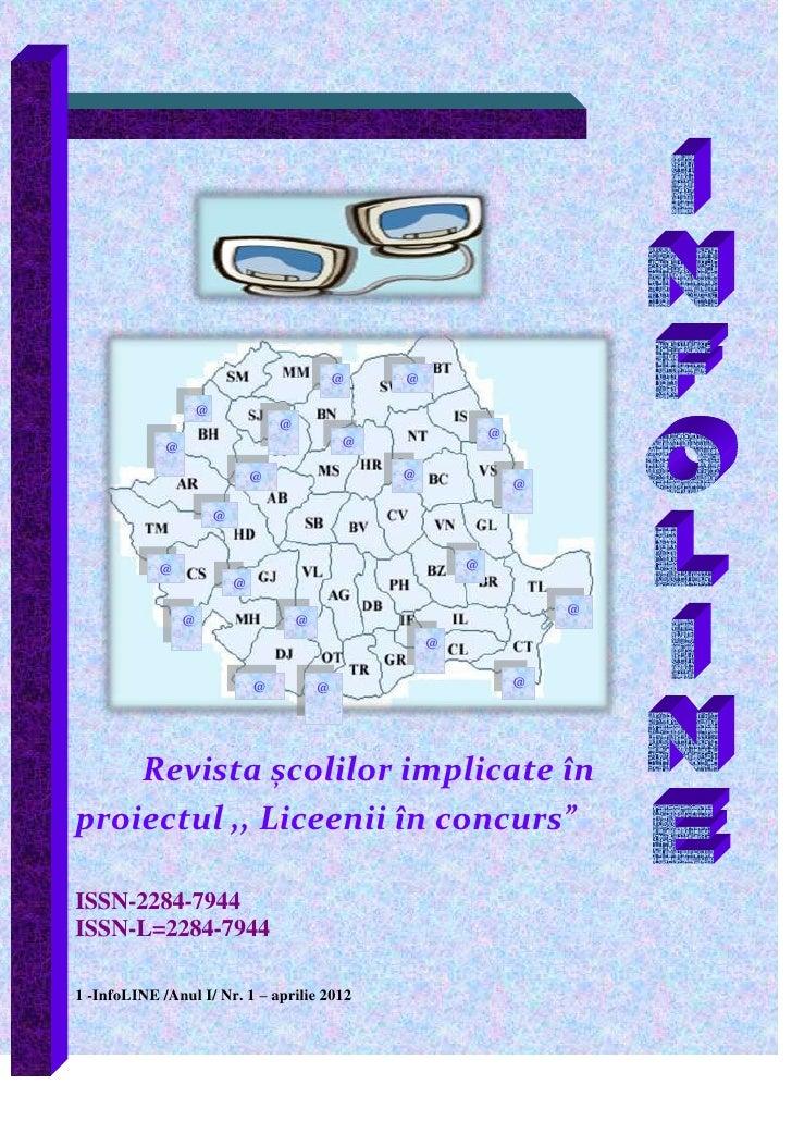 Revista InfoLINE /Anul I/ Nr. 1 – aprilie 2012