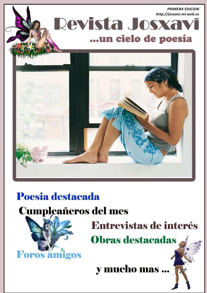 PRIMERA EDICION h                         http://josxavi.mi-web.es      …un cielo de poesía                        …un cie...