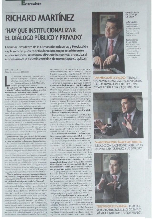 Revista Líderes 16-05-2014