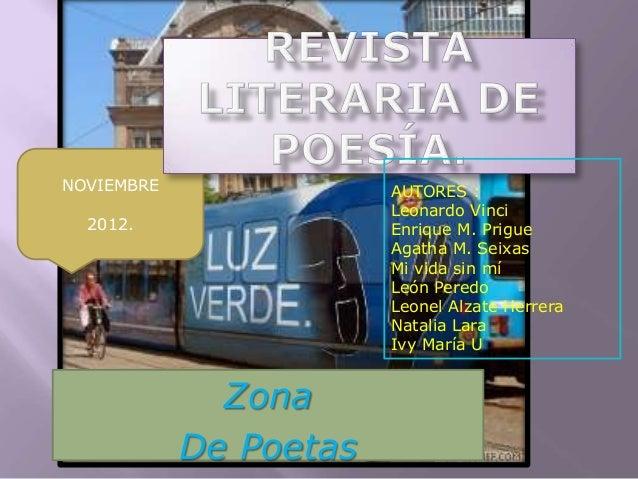 NOVIEMBRE               AUTORES :                        Leonardo Vinci  2012.                 Enrique M. Prigue          ...