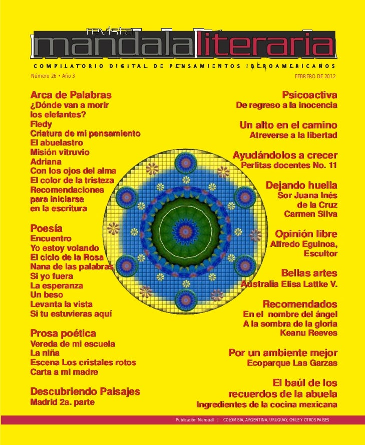 Revista mandala literaria no. 26 f