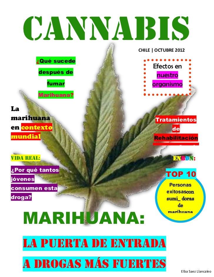 CANNABIS            CHILE   OCTUBRE 2012          ¿Qué sucede                              Efectos en          después de ...