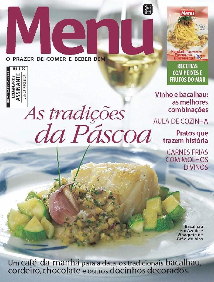 Revista menu edição100 marçode2007
