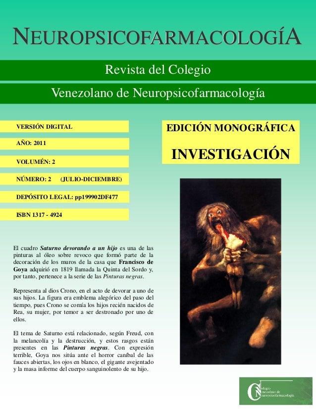 Revista neuropsicofarmacologia 2011   2