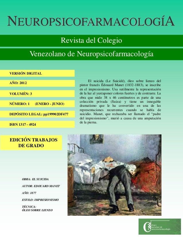 NNNEUROPSICOFARMACOLOGÍEUROPSICOFARMACOLOGÍEUROPSICOFARMACOLOGÍAAA Revista del Colegio Venezolano de Neuropsicofarmacologí...