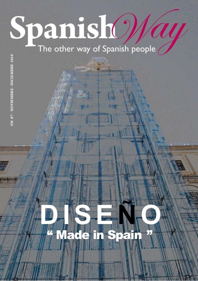 """SW07-NOVIEMBRE-DICIEMBRE2010 DISEÑ O """" Made in Spain """""""