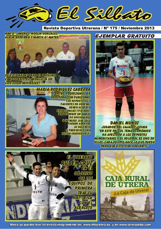 El Silbato Revista Deportiva Utrerana / Nº 175 / Noviembre 2013 ana gª jiménez, Noelia González, ejemplar gratuito alicia ...