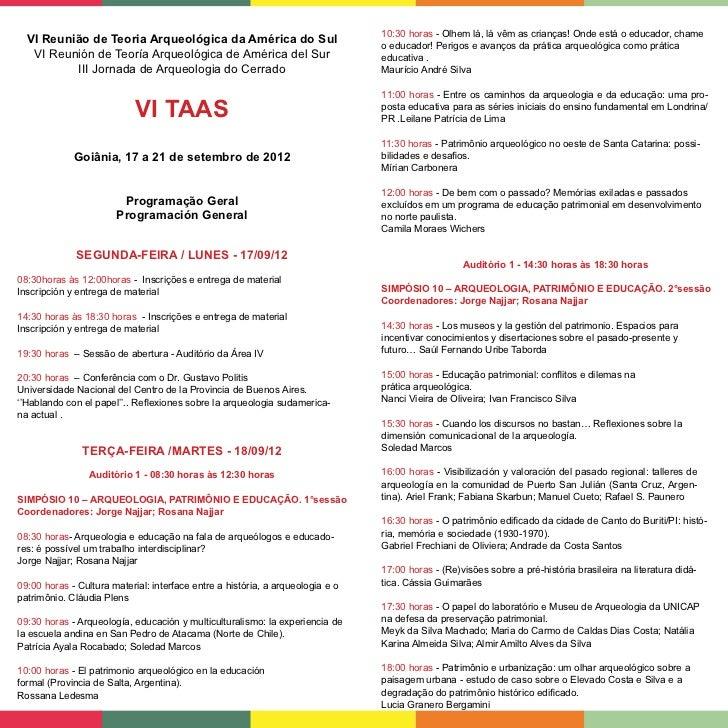 Revista Oficial VI TAAS