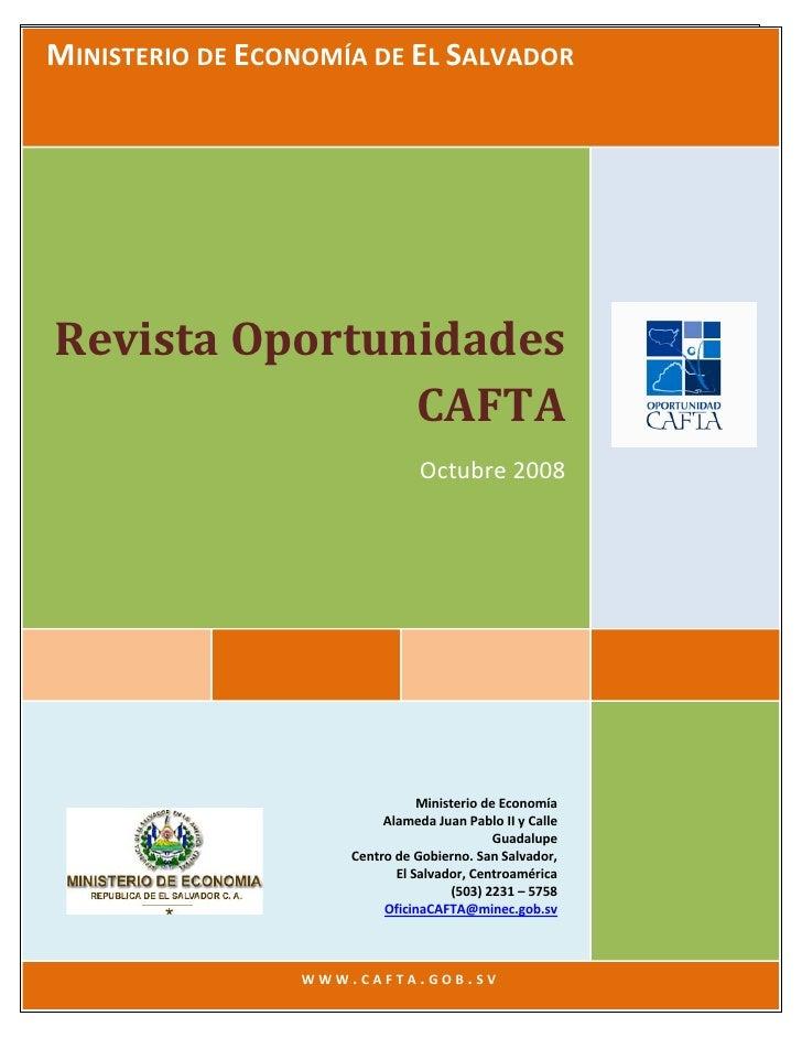 RevistaOportunidadesCAFTA                                                 Oct.2008  MINISTERIODEECONOMÍADEELSALVA...
