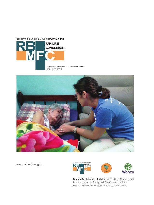 Revista Brasileira de Medicina de Família e Comunidade  Brazilian Journal of Family and Community Medicine  Revista Brasil...
