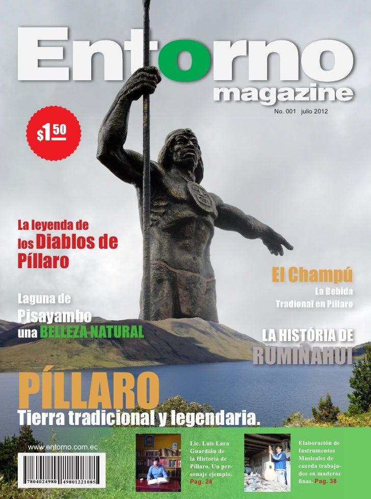 No. 001 julio 2012    1   $ 50La leyenda delos Diablos dePíllaro                                          El Champú       ...