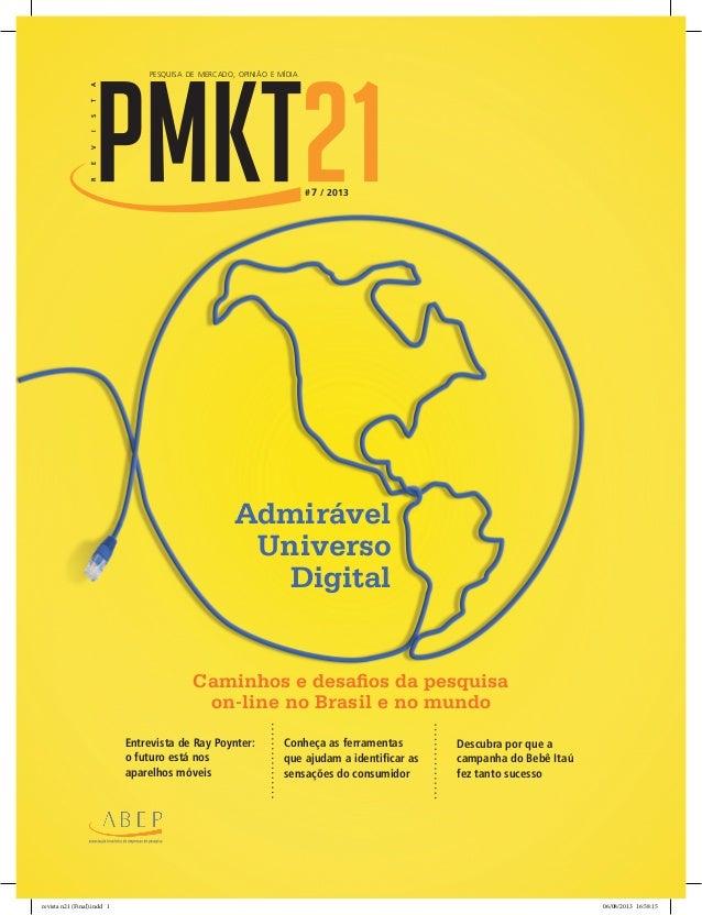 Revista pmkt21 ABEP 08/2013