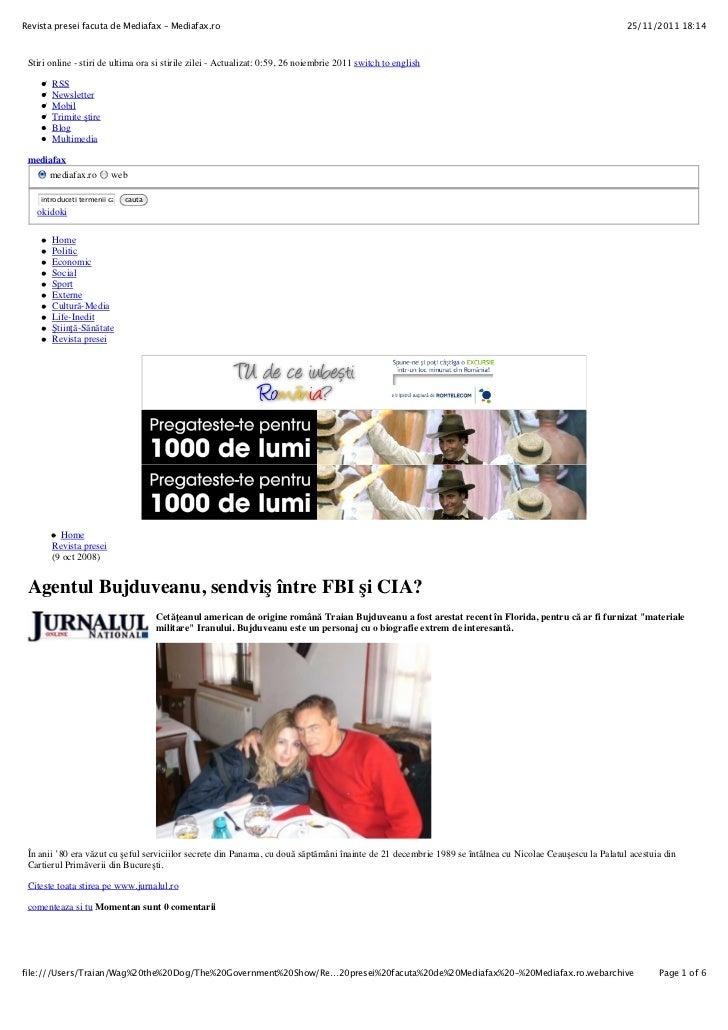 Revista presei facuta de mediafax – mediafax.ro