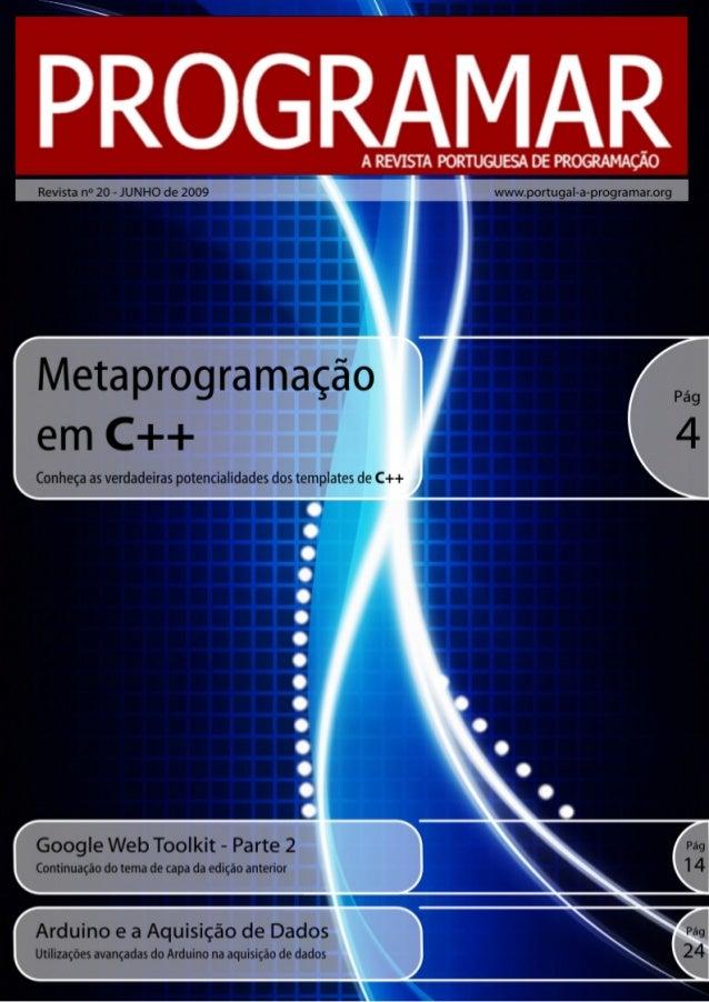<2> editorial índice 3 4 10 13 14 24 notícias/links tema de capa - Metaprogramação em C++ a programar - Processamento de t...