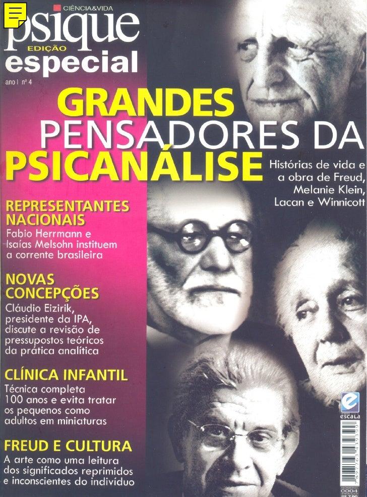 Revista Psique Especial   Grandes Pensadores Da PsicanáLise