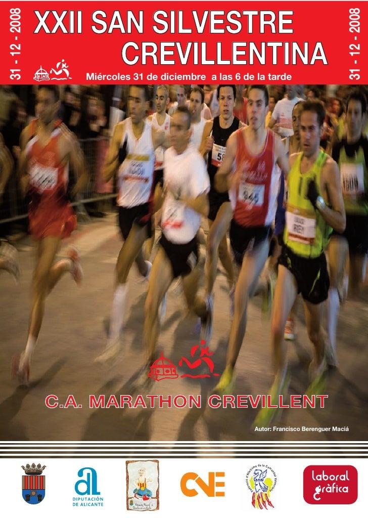 Revista San Silvestre Crevillentina 2008