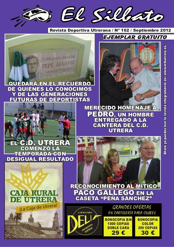 El Silbato           Revista Deportiva Utrerana / Nº 162 / Septiembre 2012                                  ejemplar gratu...
