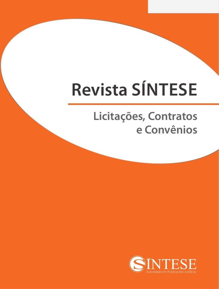 Revista SÍNTESE Licitações, Contratos e Convênios #01